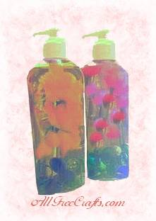 deccorative liquid soap bottles
