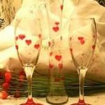 painted valentine glasses