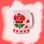 Rose Stencil Mug