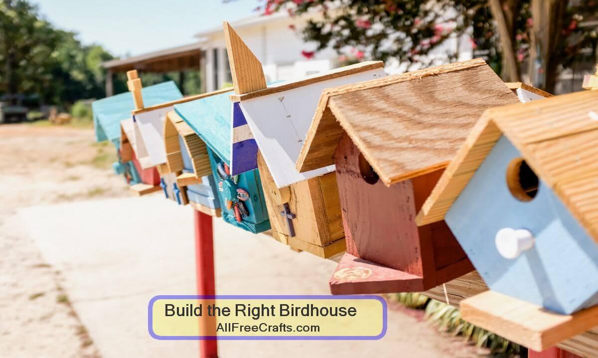 build the right birdhouse