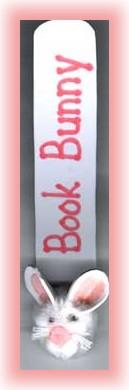 craft foam and pompom bunny bookmark