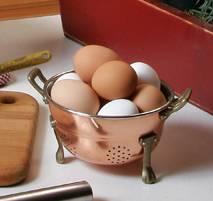 collander of eggs