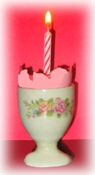 eggshell birthday candle