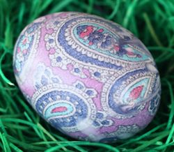 paisley tie dyed egg