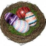 Homemade Sequin Eggs