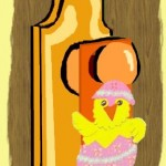 Easter Chick Door Hanger