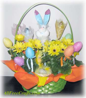daisy easter basket