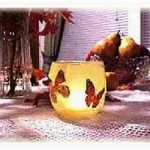 decoupage candle holders