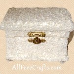 decoupaged eggshell box