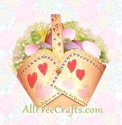 homemade paper Easter basket