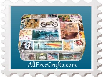 postage stamp tin