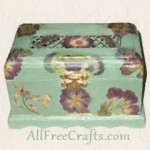 potpourri box decoupaged with flowers