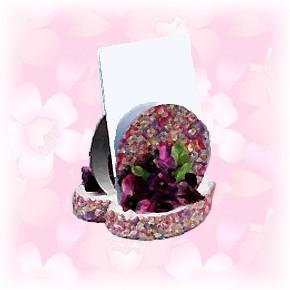 recycled CD letter holder