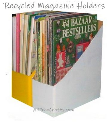 recycled cardboard box magazine holders