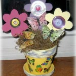 button flowers and butterflies