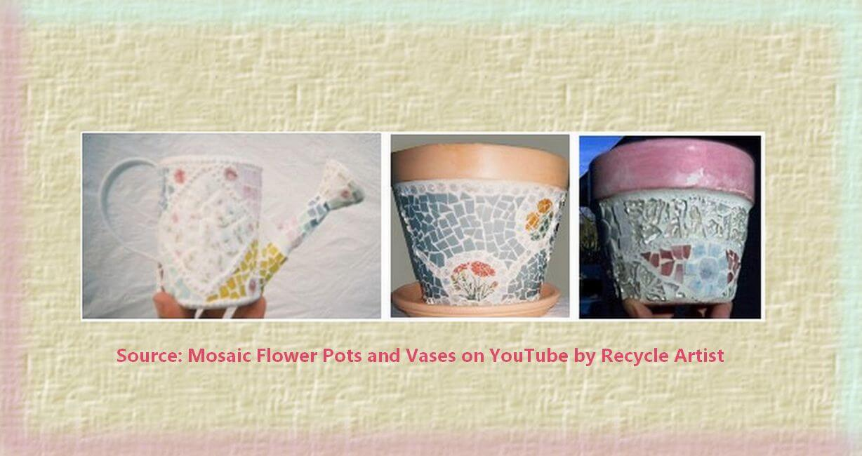 mosaic pots and vases