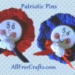 Patriotic Round Pins