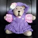 crocheted teddy bear by Teresa McCullough