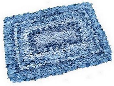 washed denim rug