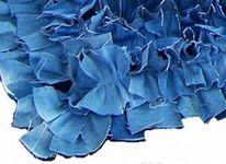 denim rug close up