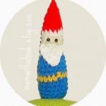 crocheted gnome
