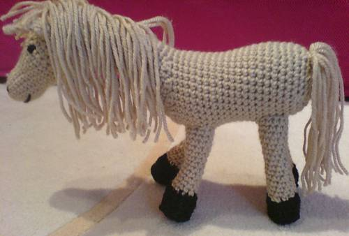 pretty crocheted pony