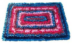mixed fabric scatter rug