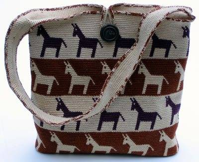 horse around purse horse motif purse worked in tapestry crochet where ...