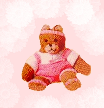 crocheted teddy bear exercise outfit