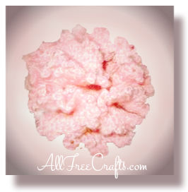 crocheted carnation