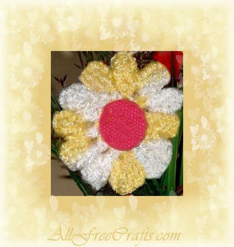 homemade crocheted daisy