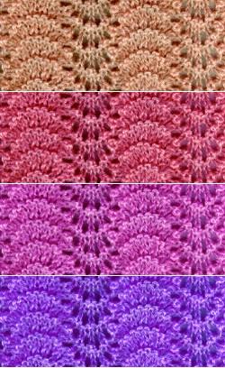 Feather Knitting Pattern : FAN FEATHER KNITTING PATTERN Free Knitting and Crochet Patterns