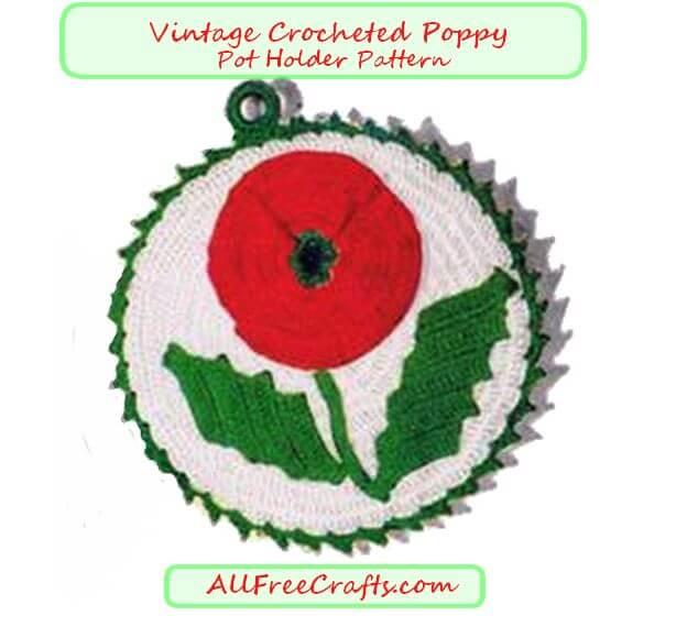 poppy pot holder pattern
