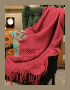 Raspberry Knitted Afghan Pattern