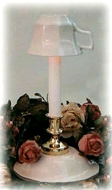 recycled teacup lamp