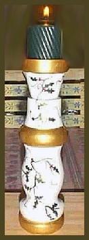 bed leg candle holder