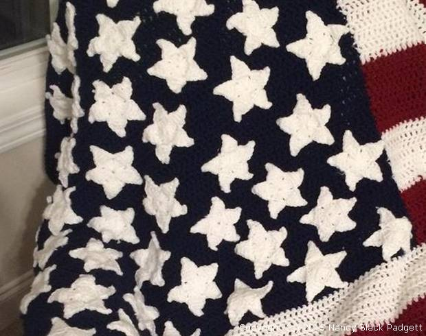 All American Crochet Afghan Pattern Free : American Flag Crochet Pattern