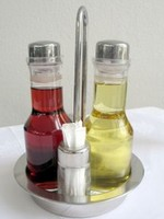 herb vinegar bottles