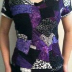 recycled fabric scraps t-shirt