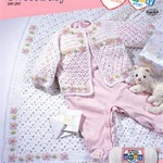 crocheted baby layette