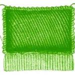 knitted chair cushion