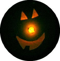 cheese box pumpkin lit up
