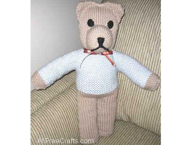 free knitted cuddle bear pattern