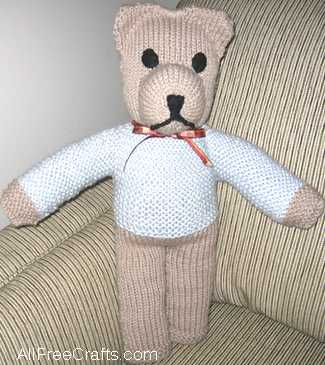 knitted teddy bear pattern