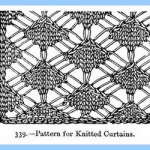Victorian knitted curtains