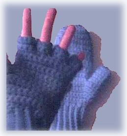 crocheted fingerless mitten top gloves