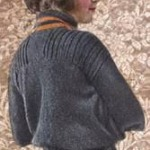 vintage knitted French blouse