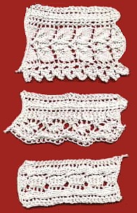 Easy Lace Edging Knitting Pattern : Vintage Knitted Lace Edging Patterns