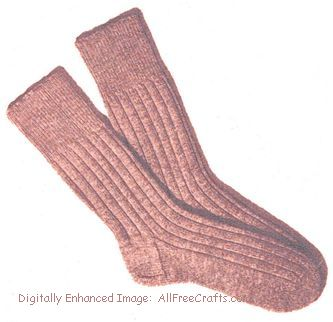 Mens Sock Knitting Pattern : Mens Socks Knitting Pattern