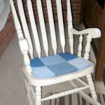 patchwork denim rocking chair pad